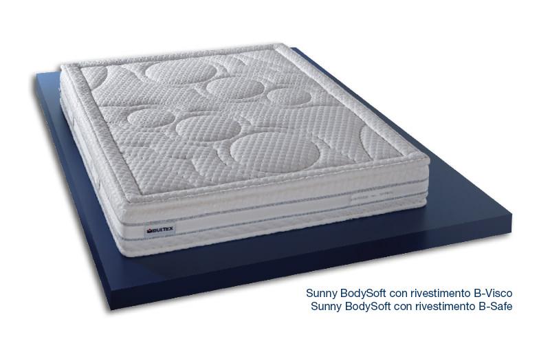Sunny BodySoft con Rivestimento B-Visco e B-Safe - Materasso in Bultex Core e Memory