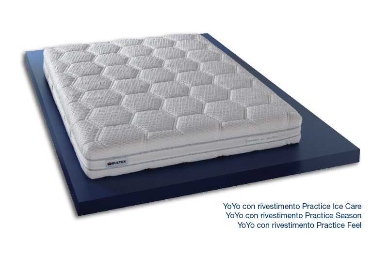 YoYo con Rivestimento Practice Ice Care - Season - Feel - Materasso ergonomico in Bultex Core